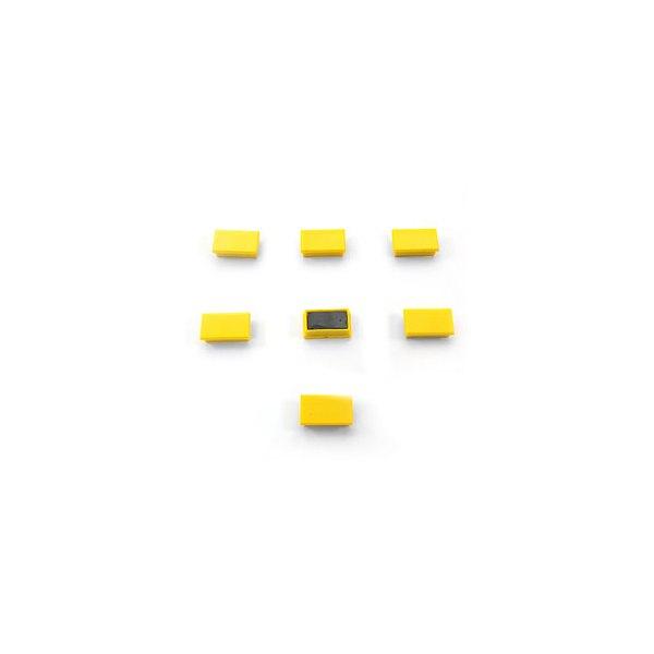 5 ETOILES Plaquette de 7 aimants rectangulaires 1,2 x 2,5 cm jaune