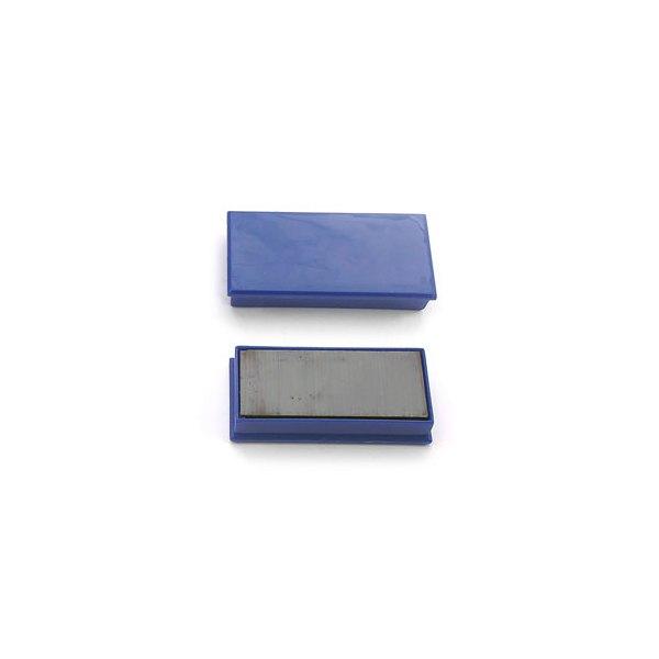 5 ETOILES Plaquette de 2 aimants rectangulaires sans téton 2,3 x 5,5 cm bleu