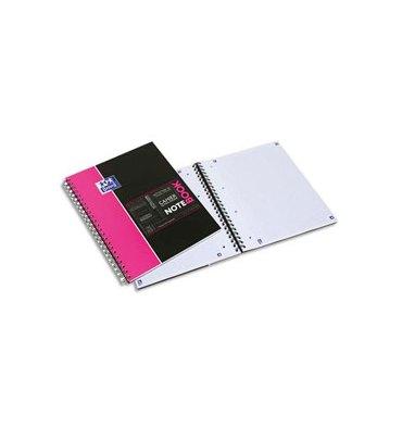 OXFORD Etudiant Cahier NOTEBOOK spiralé couverture polypropylène 160 pages lignée 7 mm 23 x 29,7 cm avec appli Scribzee