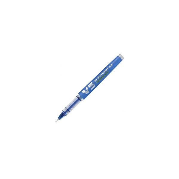 PILOT Stylo roller BEGREEN rechargeable, pointe tubulaire 0,5 mm encre liquide bleue HI-TECPOINT