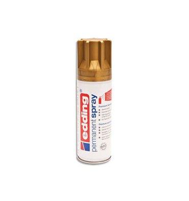 EDDING Spray peinture permanente 200 ml or, pour extérieur et intérieur