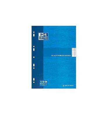 OXFORD Etui carton feuillets mobiles 21 x 29,7 cm 200 pages Seyès blancs 90g - Sous étuis carton