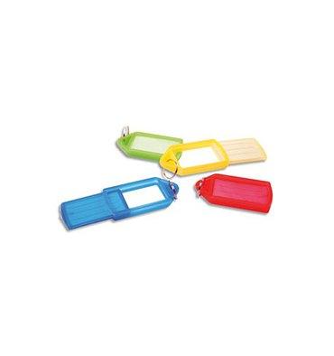 PAVO Sachet de 5 porte-clés avec anneaux assortis - 5,7 x 3 cm
