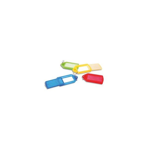 PAVO Sachet de 5 porte-clés avec anneaux assortis - 5,7 x 3 cm (photo)