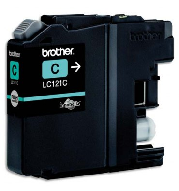 BROTHER Cartouche jet d'encre cyan LC121C