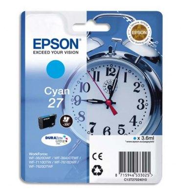 EPSON Cartouche jet d'encre cyan T2702 ou 27, visuel réveil
