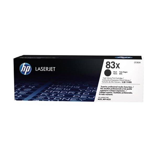 HP Cartouche toner laser noir haute capacité 83X - CF283X