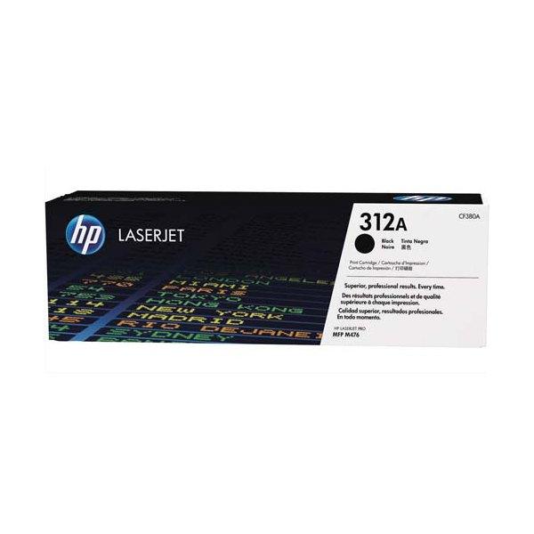 HP Cartouche toner laser noire 312A - CF380A