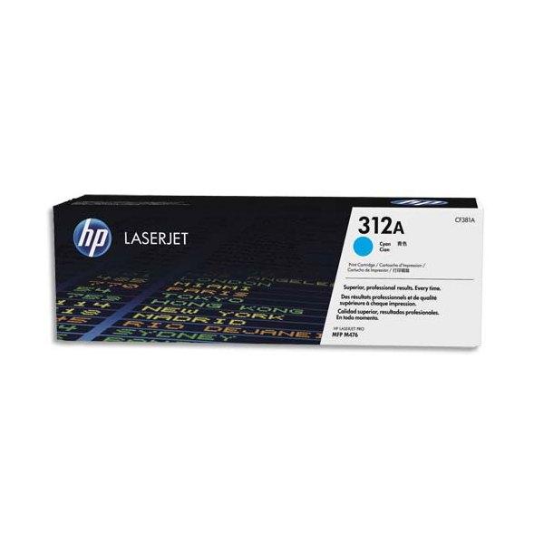 HP Cartouche toner laser cyan 312A - CF381A