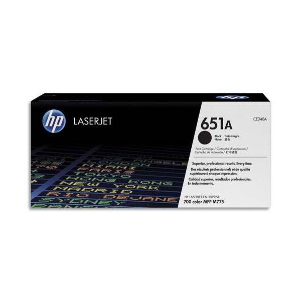 HP Cartouche toner laser noir 651A - CE340A
