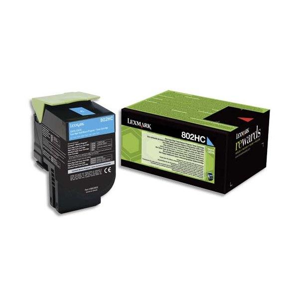 LEXMARK Cartouche toner laser cyan 80C2HCO