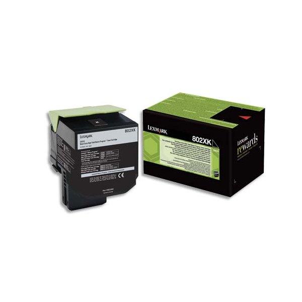 LEXMARK Cartouche toner laser noir 80C2XK0 - capacité 8000 pages
