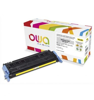 OWA BY ARMOR Cartouche toner laser jaune compatible HP Q6002A / Canon EP-707Y