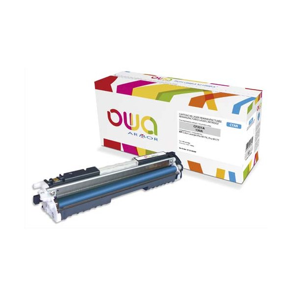 OWA BY ARMOR Cartouche toner laser Cyan compatible HP CF351A