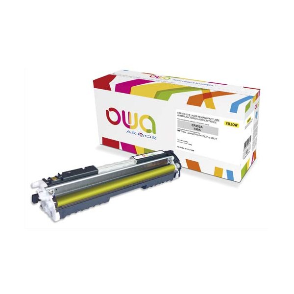 OWA BY ARMOR Cartouche toner laser jaune compatible HP CF352A