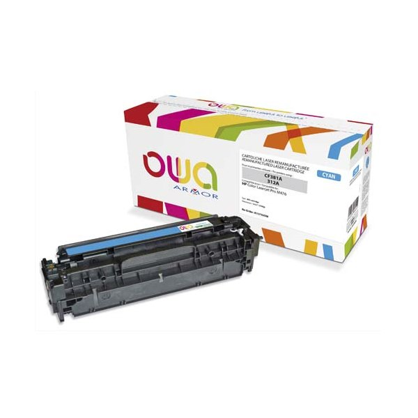 OWA BY ARMOR Cartouche toner laser cyan compatible HP CF381A / 312A