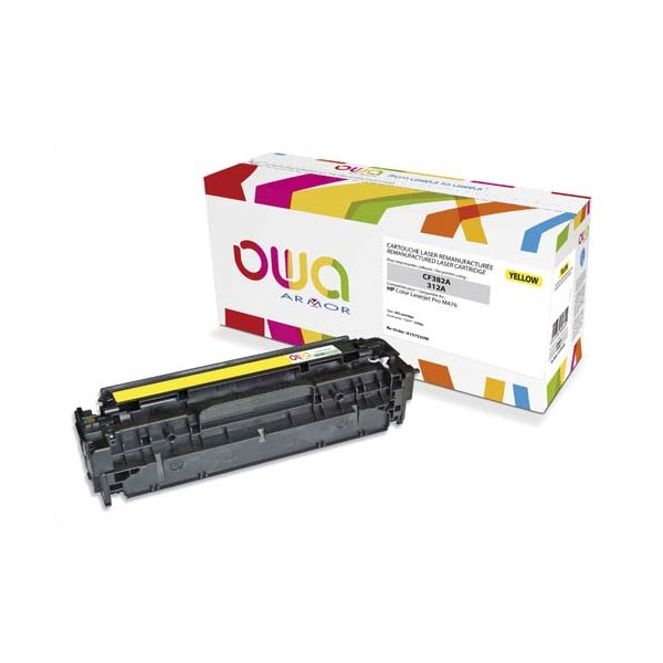 OWA BY ARMOR Cartouche toner laser jaune compatible HP CF382A / 312A