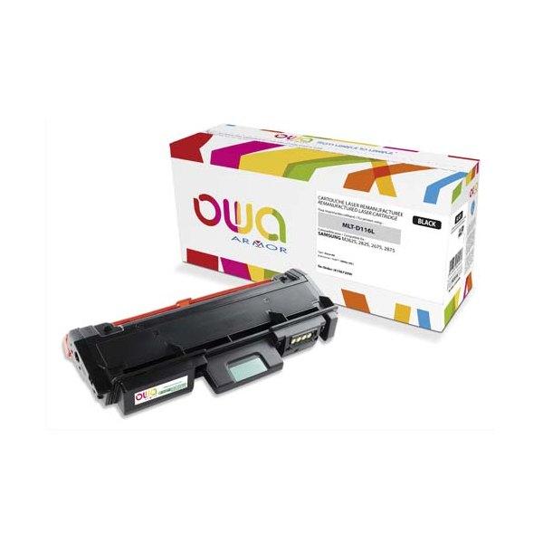 OWA BY AMOR Cartouche toner laser noir compatible Samsung MLT-D116L
