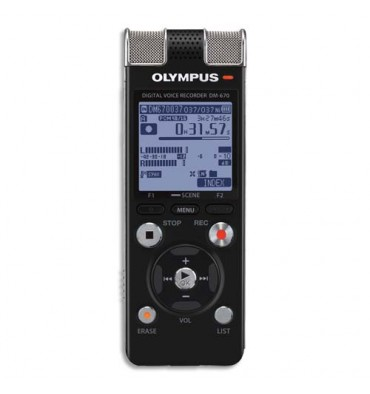 OLYMPUS Machine à dicter DM670 Gris 8Go