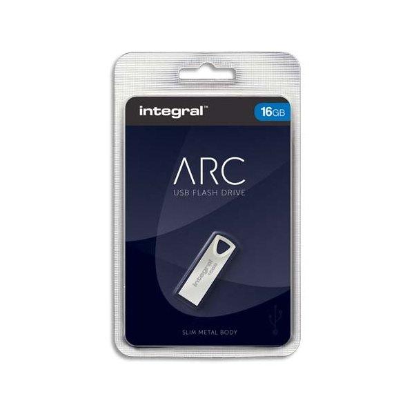 INTEGRAL Clé USB 2.0 Métal ARC 16Go INFD16GBARC + Redevance
