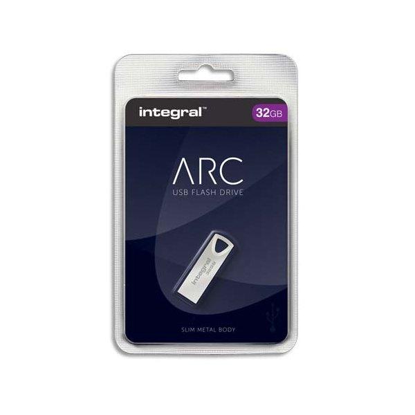 INTEGRAL Clé USB 2.0 Métal ARC 32Go INFD32GBARC + Redevance