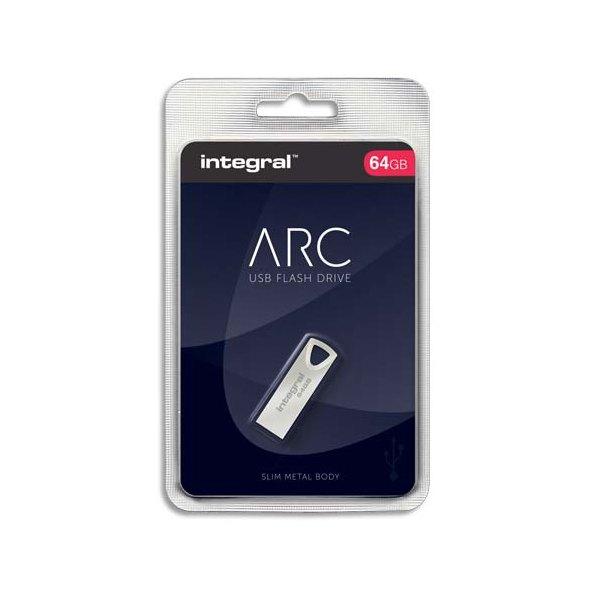 INTEGRAL Clé USB 2.0 Métal ARC 64Go INFD64GBARC + Redevance