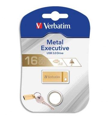 VERBATIM Clé USB 3.0 Store'N'Go Mini Metal Executive Gold 16Go 99104 + redevance