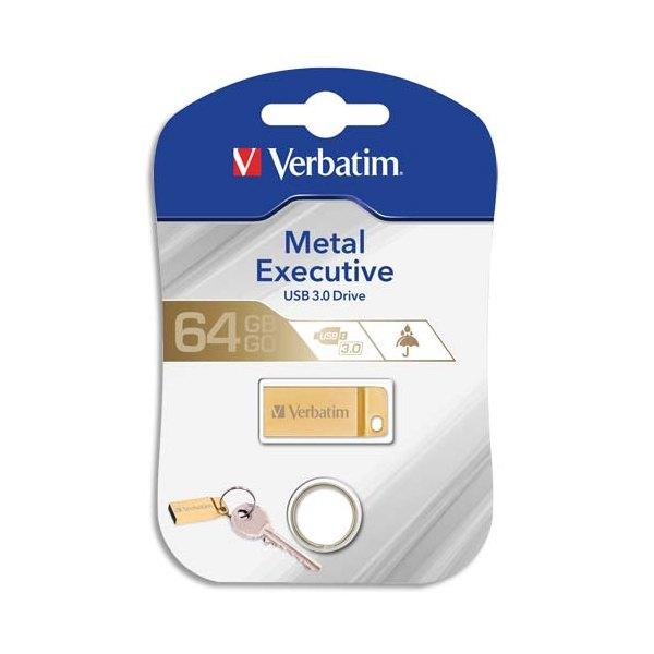 VERBATIM Clé USB 3.0 Store'N'Go Mini Metal Executive Gold 64Go 99106 + redevance