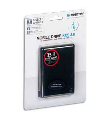 "FREECOM Disque dur 2,5"" USB 3.0 Mobile Drive XXS 2To 56334 + redevance"