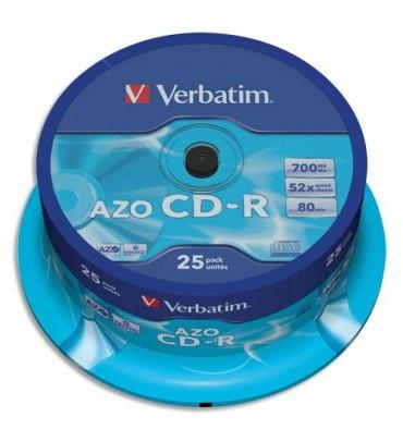 VERBATIM Tour de 25 CD-R 700 Mo - 43352 + redevance