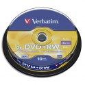 VERBATIM Tour de 10 DVD+RW 4,7Go vitesse d'écriture 4x + redevance 43488