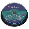 VERBATIM Tour de 10 DVD-RW 4,7Go 4x - 43552