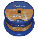VERBATIM Tour de 50 DVD-R 16x 43548 + redevance