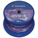 VERBATIM Tour de 50 DVD+R 4,7 Go 16x 43550 + redevance