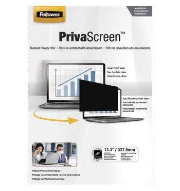 FELLOWES Filtre de confidentialité PrivaScreen 13,3'' (16/9) pour ordinateurs