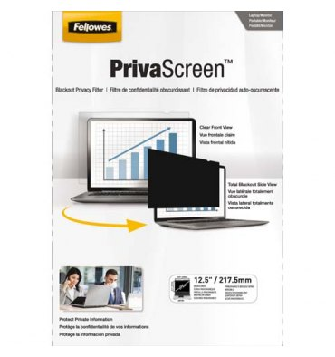 "FELLOWES Filtre de confidentialité PrivaScreen 12,5"" (16/9) pour ordinateurs"