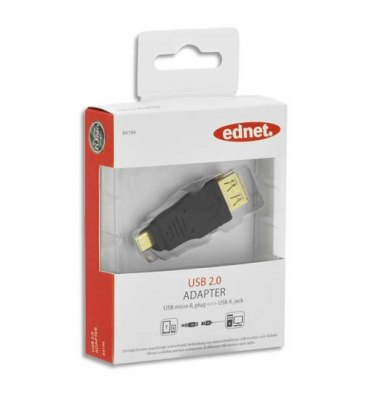 EDNET Adaptateur USB type micro B - A