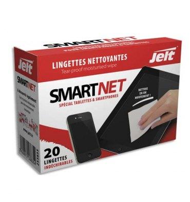 JELT Boîte de 20 lingettes nettoyantes individuelles SmartNet
