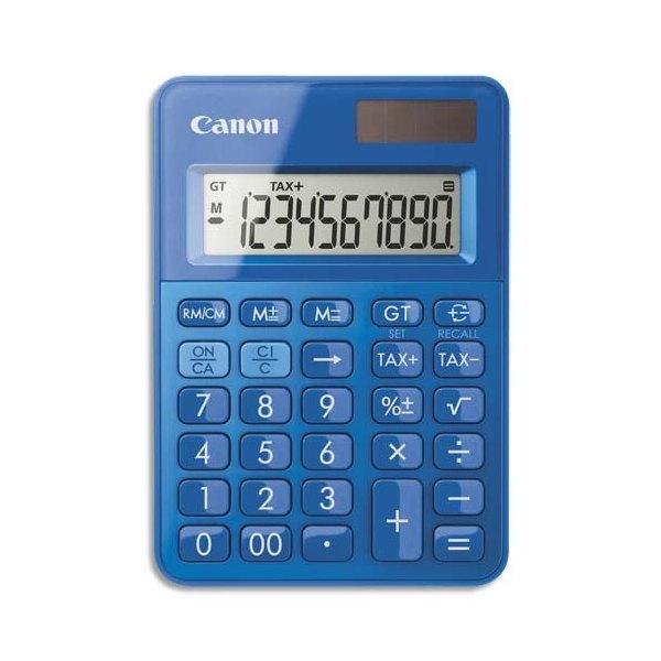 CANON Mini Calculatrice de poche à 10 chiffres LS-100K, coloris bleu