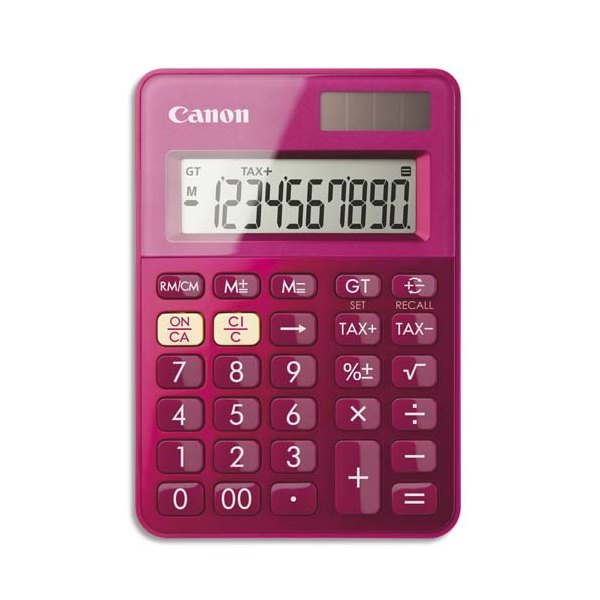 CANON Mini Calculatrice de poche à 10 chiffres LS-100K, coloris rose