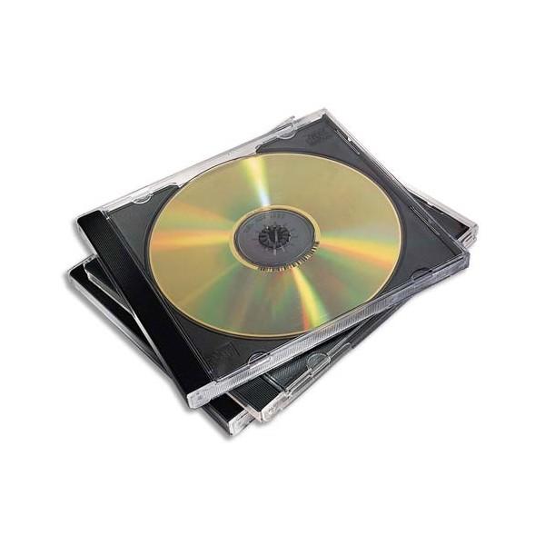 FELLOWES Pack de 10 boîtiers CD standard noir 98310