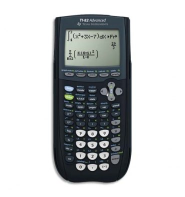 TEXAS Calculatrice graphique TI82 Advanced, coloris noir