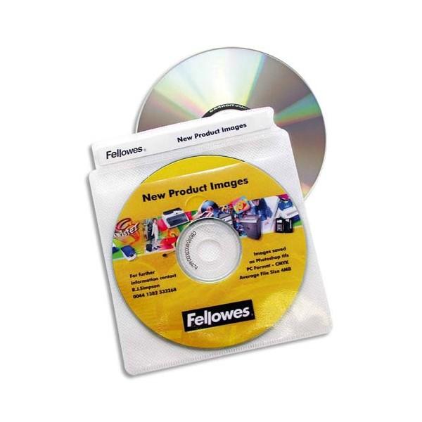FELLOWES Paquet de 100 enveloppes plastiques CD/DVD 9831201