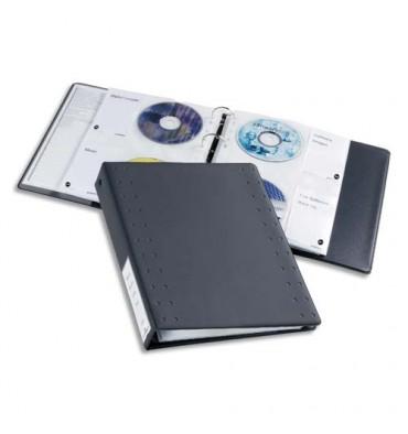 DURABLE Classeur indexable format A4 pour CD et DVD avec 15 pochettes anthracite CD/DVD Index 40 5227-58
