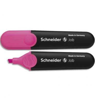 SCHNEIDER Surligneur JOB 150 (rechargeable) pointe biseautée, encre rose