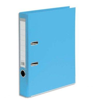 5 ETOILES Classeur à levier en polypropylène dos de 5 cm bleu clair