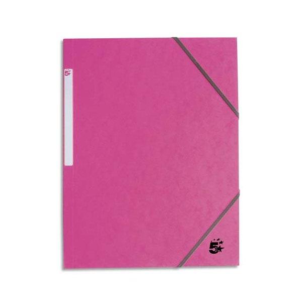 5 ETOILES Chemise 3 rabats monobloc à élastique en carte rose clair (photo)