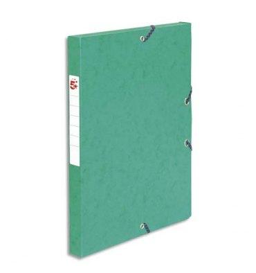 5 ETOILES Boîte de classement à élastique en carte lustrée 7/10e, 600g. Dos 25 mm. Coloris vert