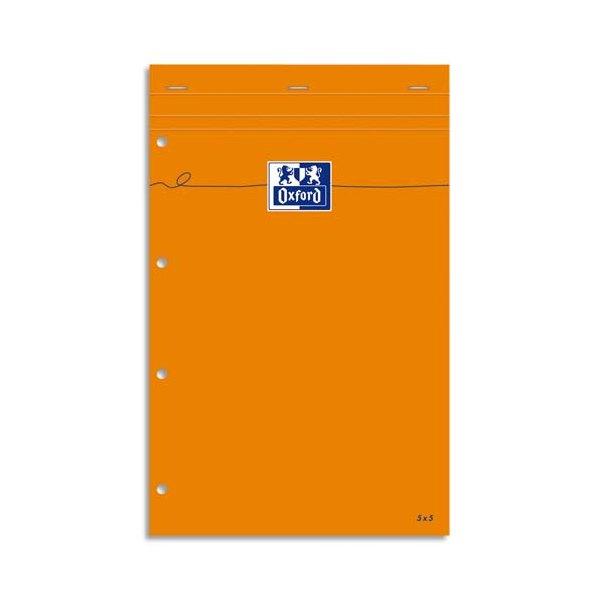 OXFORD Bloc IDEA format 21 x 32 cm 80g réglure 5x5 perforé 5x5