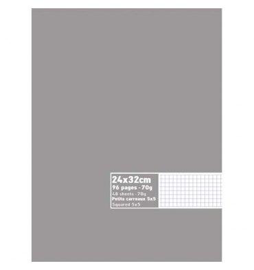 NEUTRE Cahier piqûre 96 pages 70g 5x5 24 x 32 cm couverture carte assortis